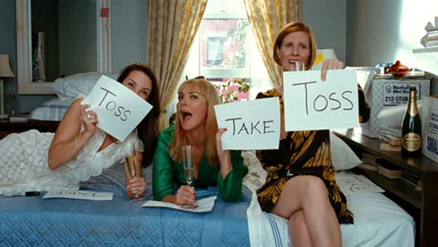 Sex and The City - toss and take declutter wardobe